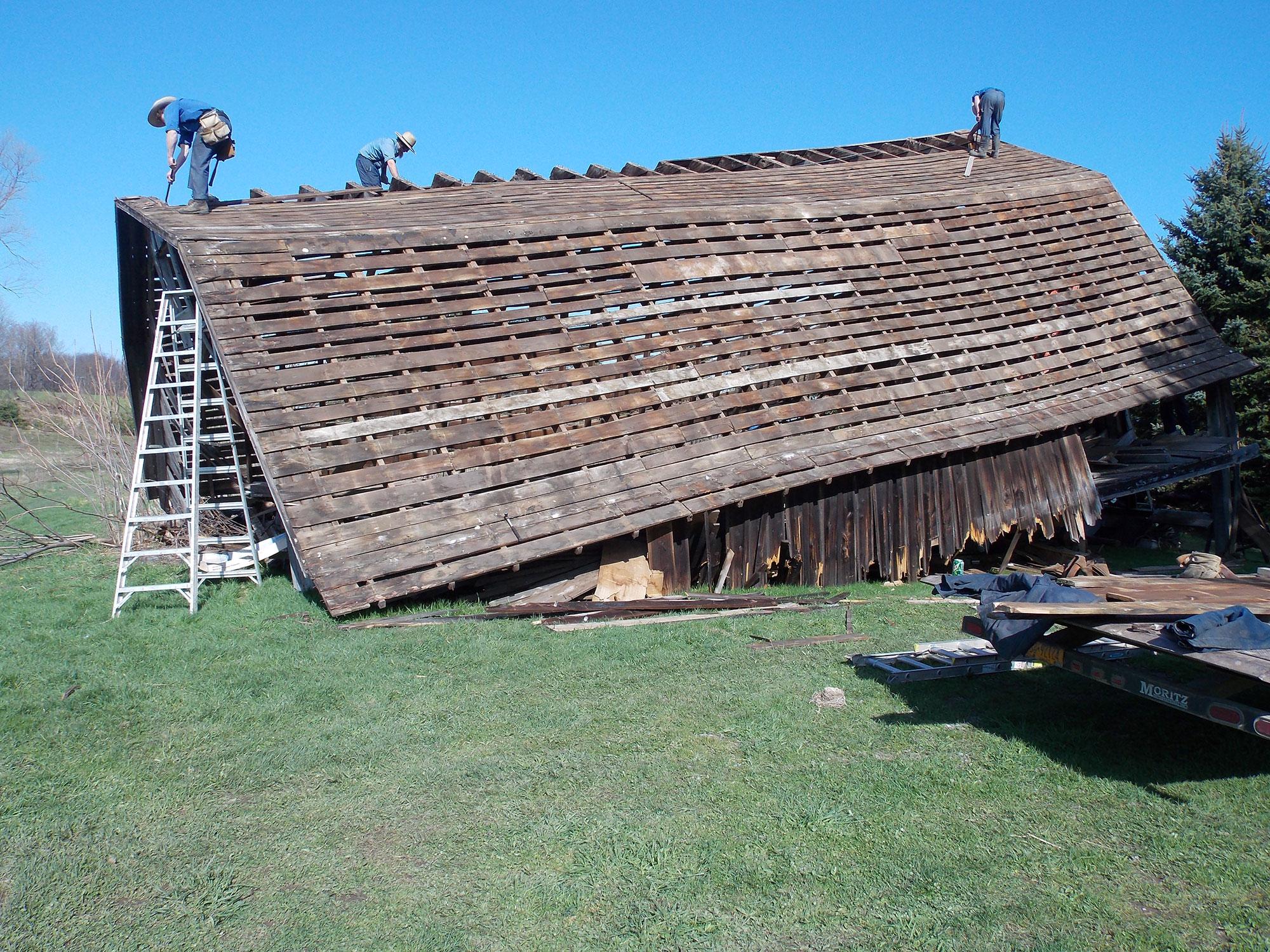 reclaimed barn wood in chalet