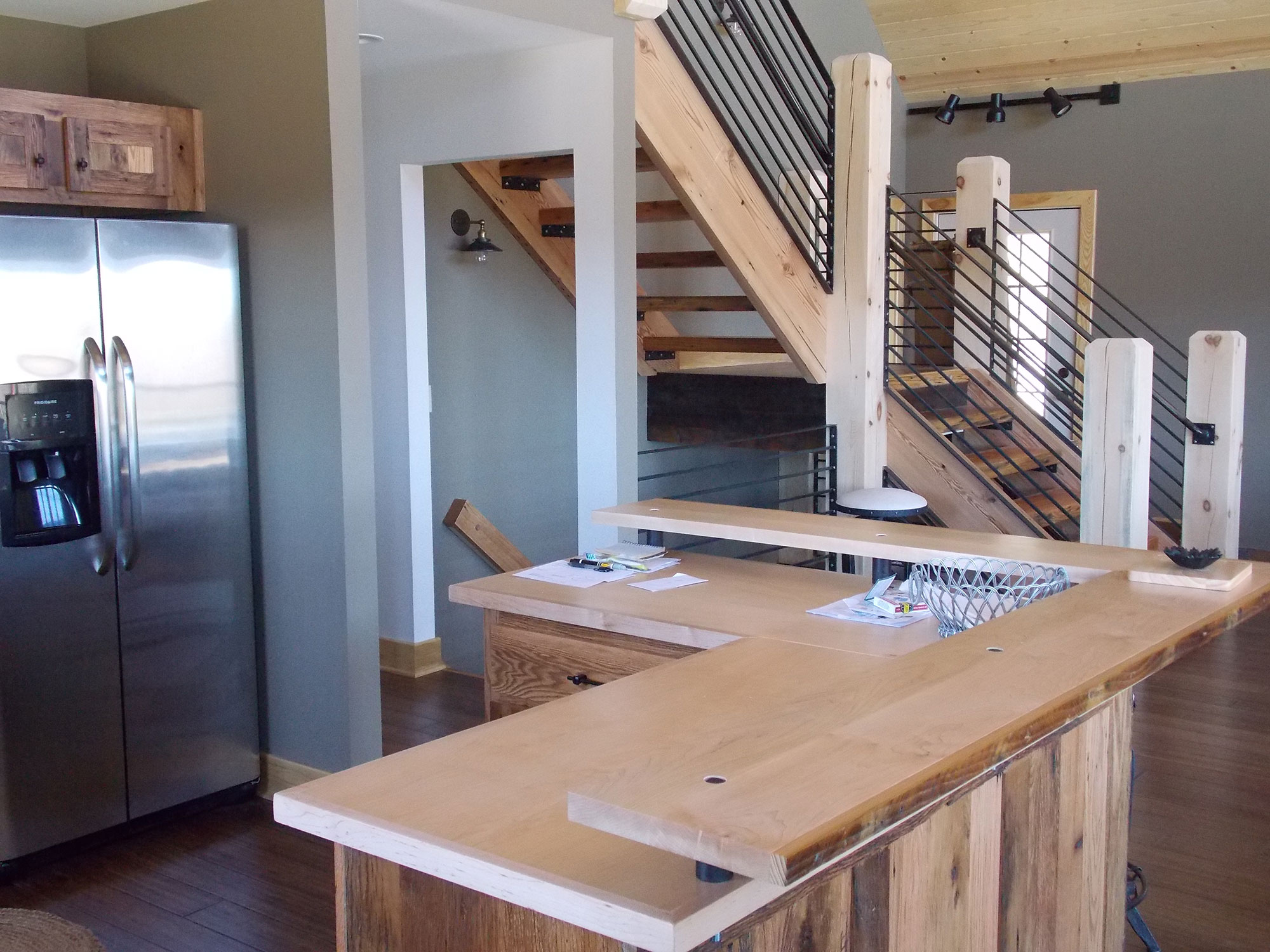 Chalet Kitchen Island from Reclaimed Wood