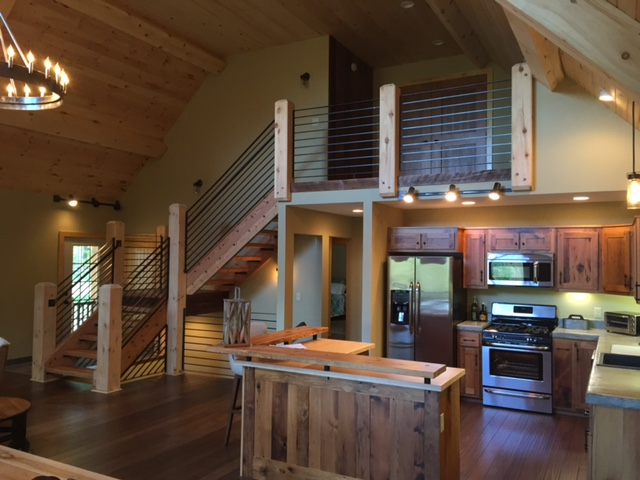 Reclaimed Wood Chalet Interior