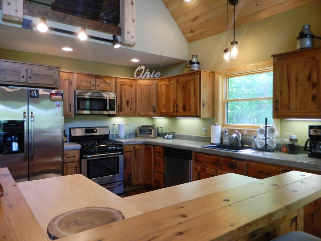 Amish Made Kitchen Cabinets from Reclaimed Barn Wood