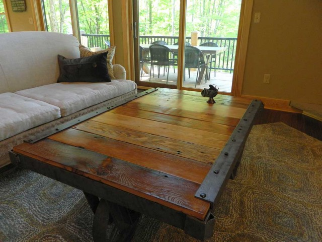 old larkin factory carts coffee table