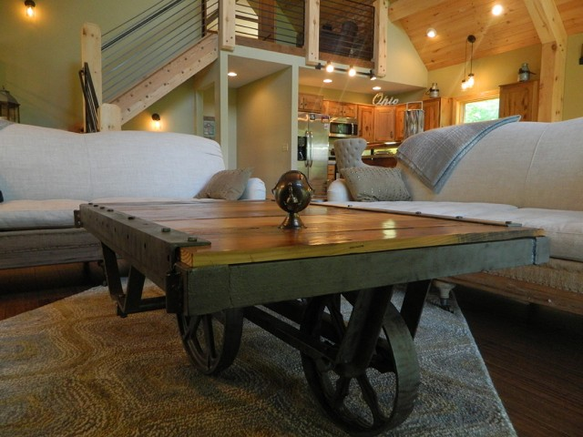1900s Larkin Factory Cart Coffee Table