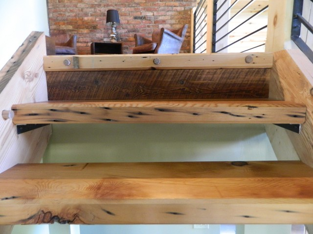 Curtiss Wright Factory Reclaimed Wood Steps