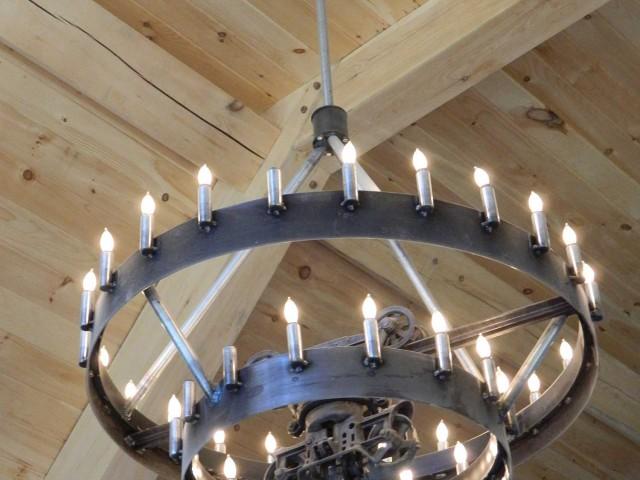 hay track chandelier