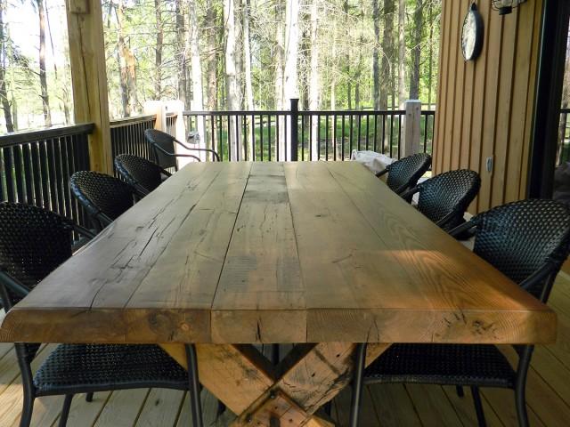 Picnic Table from Civil War Era Timber