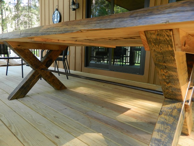 Civil War Era Timber Picnic Table
