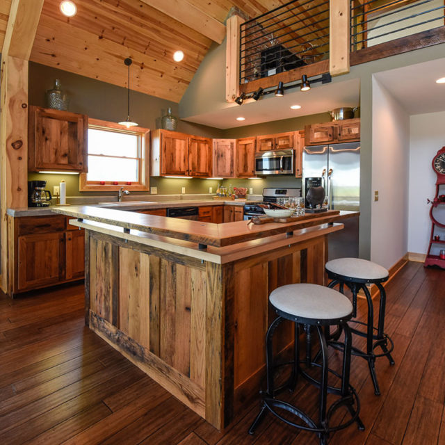 Ellicottville Chalet Kitchen Island
