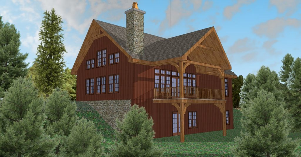Lofty Mountain Ellicottville NY - Valley View Model - Chalet Model Rendering